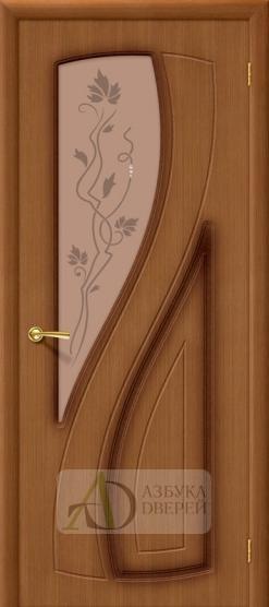 Межкомнатная шпонированная дверь Лагуна ПО Орех