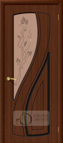 Межкомнатная шпонированная дверь Лагуна ПО Шоколад