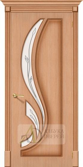Межкомнатная шпонированная дверь Лилия ПО дуб файн-лайн