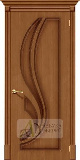 Межкомнатная шпонированная дверь Лилия ПГ орех файн-лайн