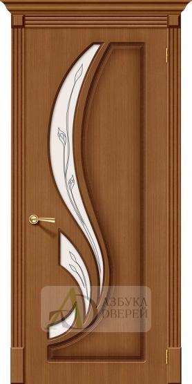 Межкомнатная шпонированная дверь Лилия ПО орех файн-лайн