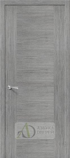 Межкомнатная шпонированная дверь Рондо ПГ Серый дуб