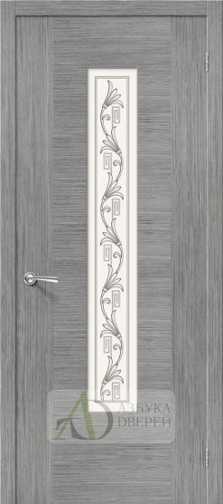 Межкомнатная шпонированная дверь Рондо ПО Серый дуб