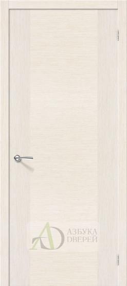 Межкомнатная шпонированная дверь Рондо ПГ Беленый дуб