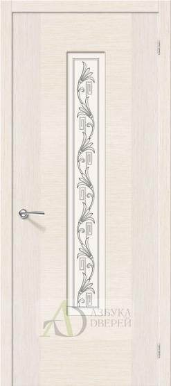 Межкомнатная шпонированная дверь Рондо ПО Беленый дуб