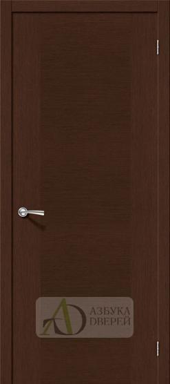 Межкомнатная шпонированная дверь Рондо ПГ Венге