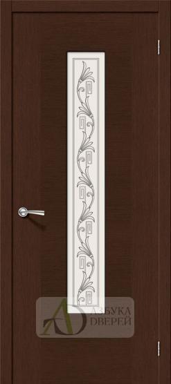 Межкомнатная шпонированная дверь Рондо ПО Венге