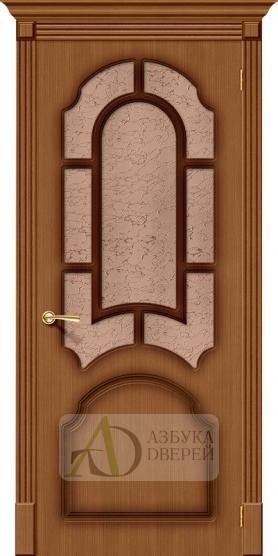 Межкомнатная шпонированная дверь Соната ПО Орех файн-лайн