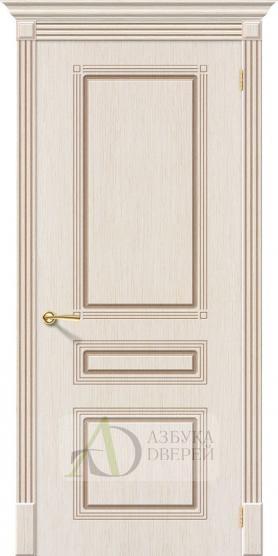 Межкомнатная шпонированная дверь Стиль ПГ Беленый дуб