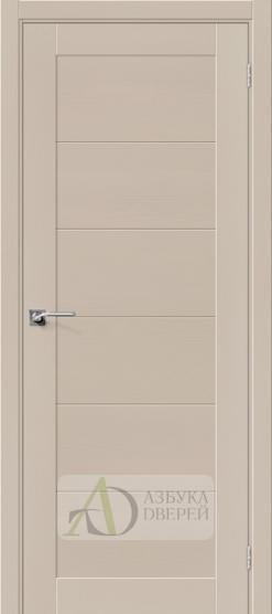 Межкомнатная шпонированная дверь Вуд Модерн-21 MF Latte