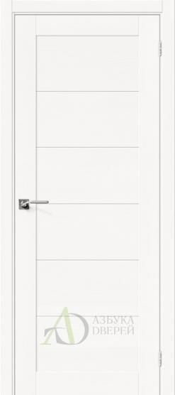 Межкомнатная шпонированная дверь Вуд Модерн-21 Whitey