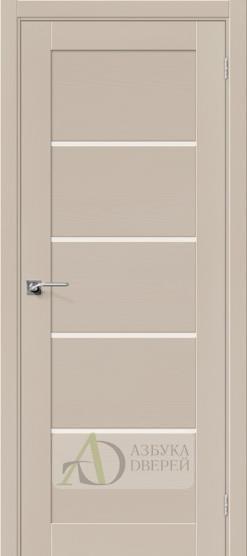 Межкомнатная шпонированная дверь Вуд Модерн-22 MF Latte