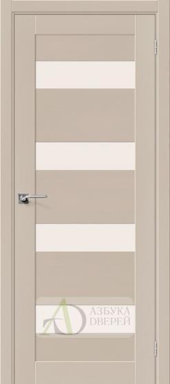 Межкомнатная шпонированная дверь Вуд Модерн-23 MF Latte