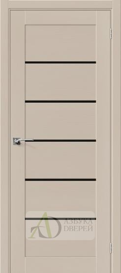 Межкомнатная шпонированная дверь Вуд Модерн-22 BS Latte