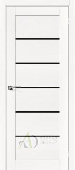 Межкомнатная шпонированная дверь Вуд Модерн-22 BS Whitey