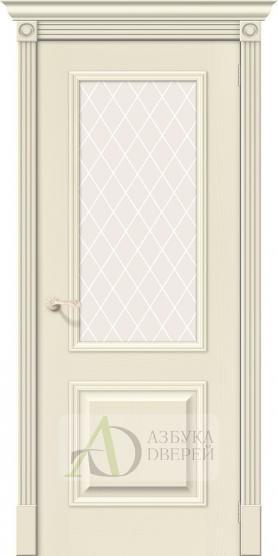Межкомнатная шпонированная дверь Вуд Классик-13 Ivory