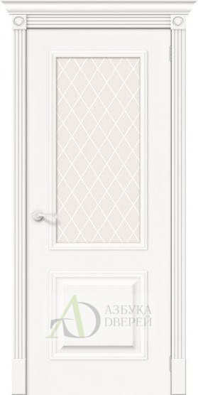 Межкомнатная шпонированная дверь Вуд Классик-13 Whitey