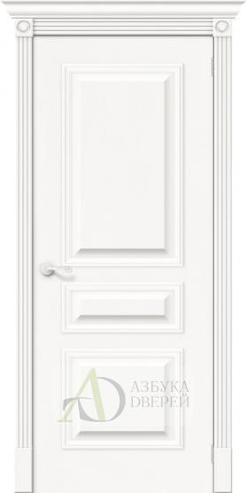 Межкомнатная шпонированная дверь Вуд Классик-14 Whitey