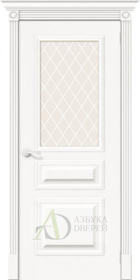 Межкомнатная шпонированная дверь Вуд Классик-15.1 Whitey