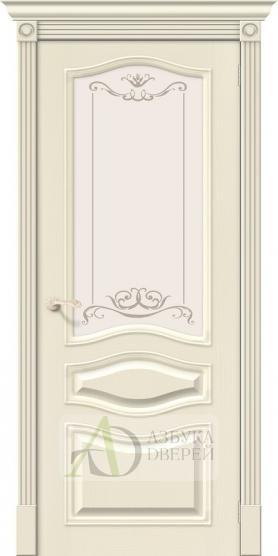 Межкомнатная шпонированная дверь Вуд Классик-51 Ivory