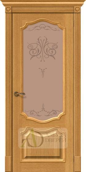 Межкомнатная шпонированная дверь Вуд Классик-53 Natur Oak