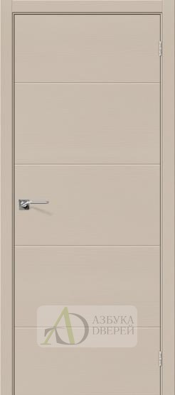 Межкомнатная шпонированная дверь Вуд Арт-2.H Latte
