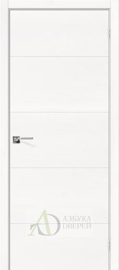 Межкомнатная шпонированная дверь Вуд Арт-2.H Whitey