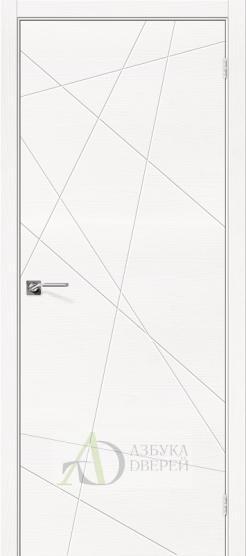 Межкомнатная шпонированная дверь Вуд Арт-5.H Whitey