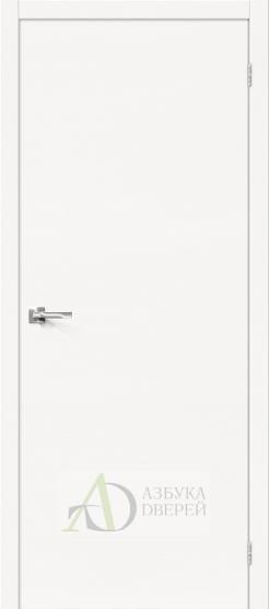 Межкомнатная шпонированная дверьВуд Флэт-0.H Whitey