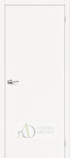 Межкомнатная шпонированная дверьВуд Флэт-0.V Whitey