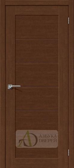 Межкомнатная дверь с экошпоном Легно-21 BrownOak
