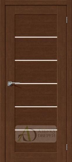 Межкомнатная дверь с экошпоном Легно-22 BrownOak