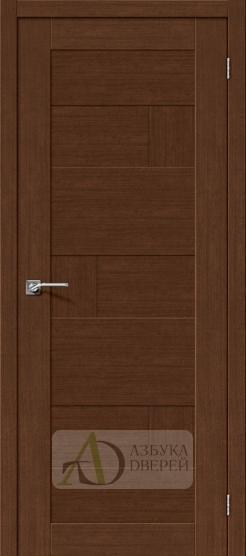 Межкомнатная дверь с экошпоном Легно-38 BrownOak