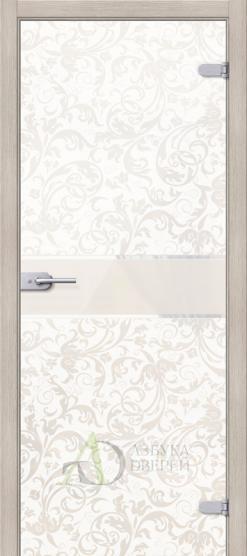 Стеклянная дверь Флори Белое