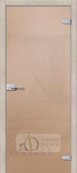 Лайт Бронза Сатинато - стеклянная межкомнатная дверь