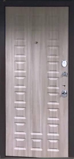 Стальная дверь Оптим Твин Шимо темный/Шимо светлый 205*88 Правая. Выставочный образец