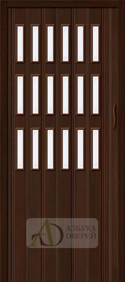Межкомнатная раздвижная дверь (Гармошка) Браво-018 Венге