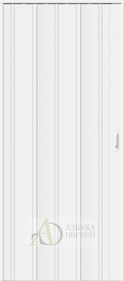 Межкомнатная раздвижная дверь (Гармошка) ДСК 007 Белый глянец