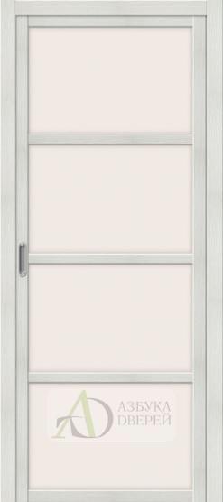 Межкомнатная дверь с Экошпоном Твигги V4 Bianco Veralinga
