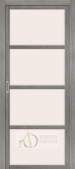 Межкомнатная дверь с Экошпоном Твигги V4 ПО Grey Veralinga