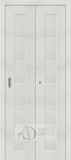 Межкомнатная складная дверь с экошпоном Порта-21 Bianco Veralinga