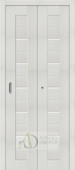 Межкомнатная складная дверь с экошпоном Порта-22 Bianco Veralinga