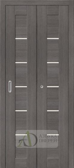 Межкомнатная складная дверь с экошпоном Порта-22 Grey Veralinga