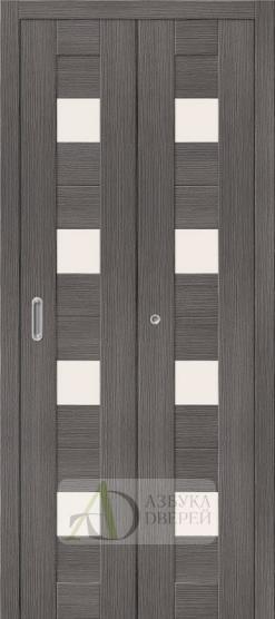 Межкомнатная складная дверь с экошпоном Порта-23 Grey Veralinga