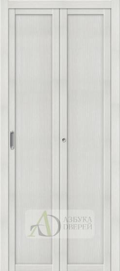 Межкомнатная складная дверь с Экошпоном Твигги M1 Bianco Veralinga