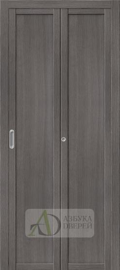Межкомнатная складная дверь с Экошпоном Твигги M1 Grey Veralinga