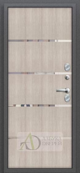 Стальная дверь Оптим Термо 204 Антик Серебро/Cappuccino Veralinga