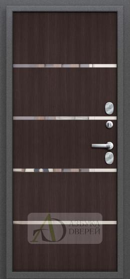 Стальная дверь Оптим Термо 204 Антик Серебро/Wenge Veralinga