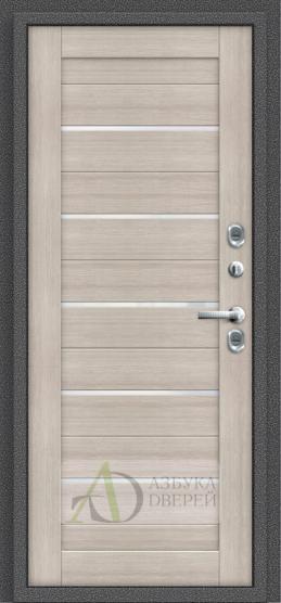 Стальная дверь Оптим Термо 222 Cappuccino Veralinga/White Pearl