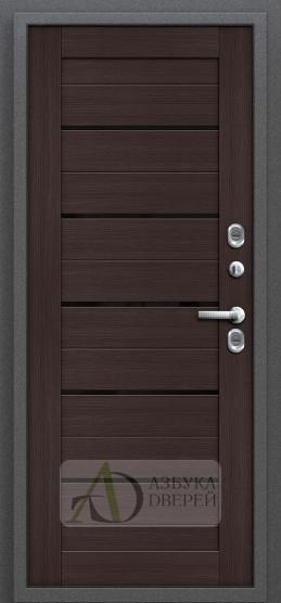 Стальная дверь Оптим Термо 222 Wenge Veralinga/Black Star